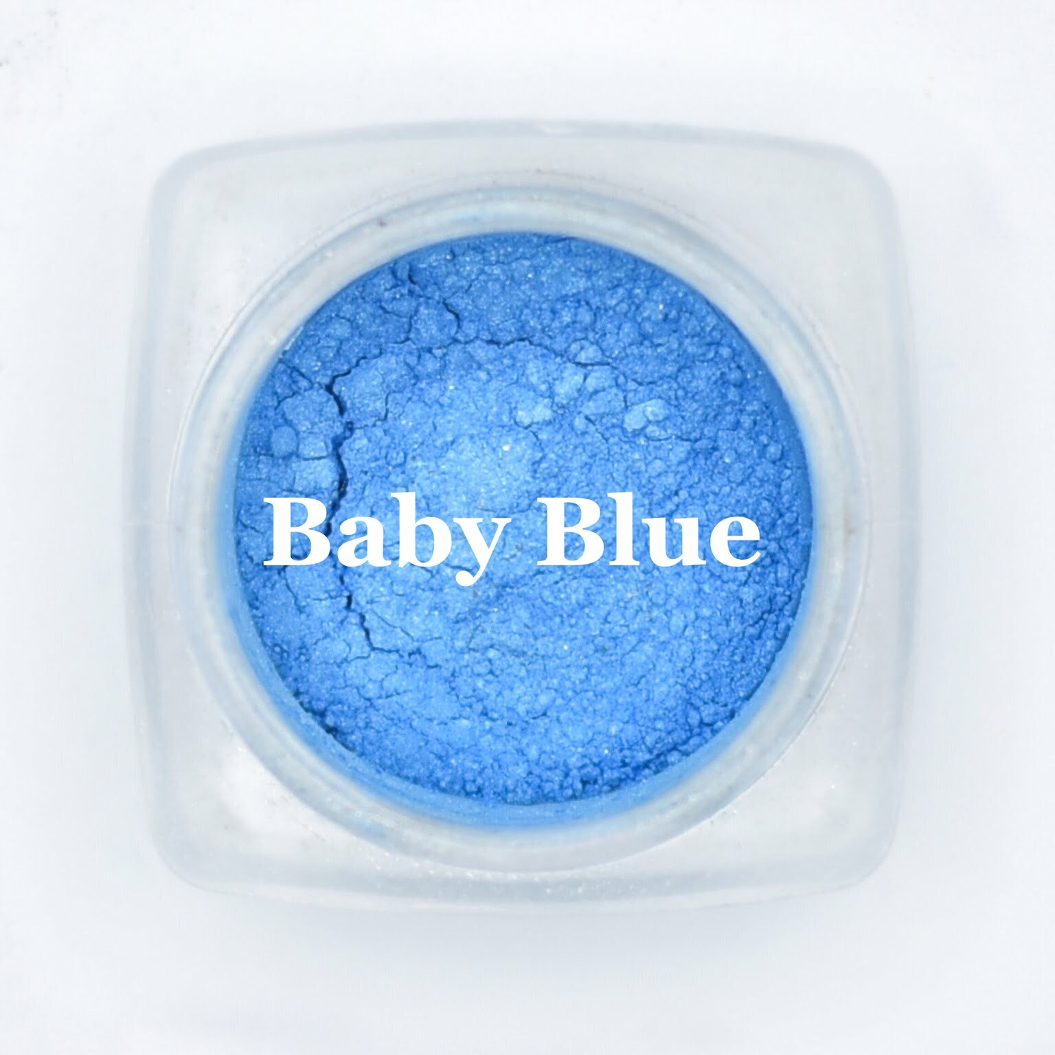 eye shadow baby blue