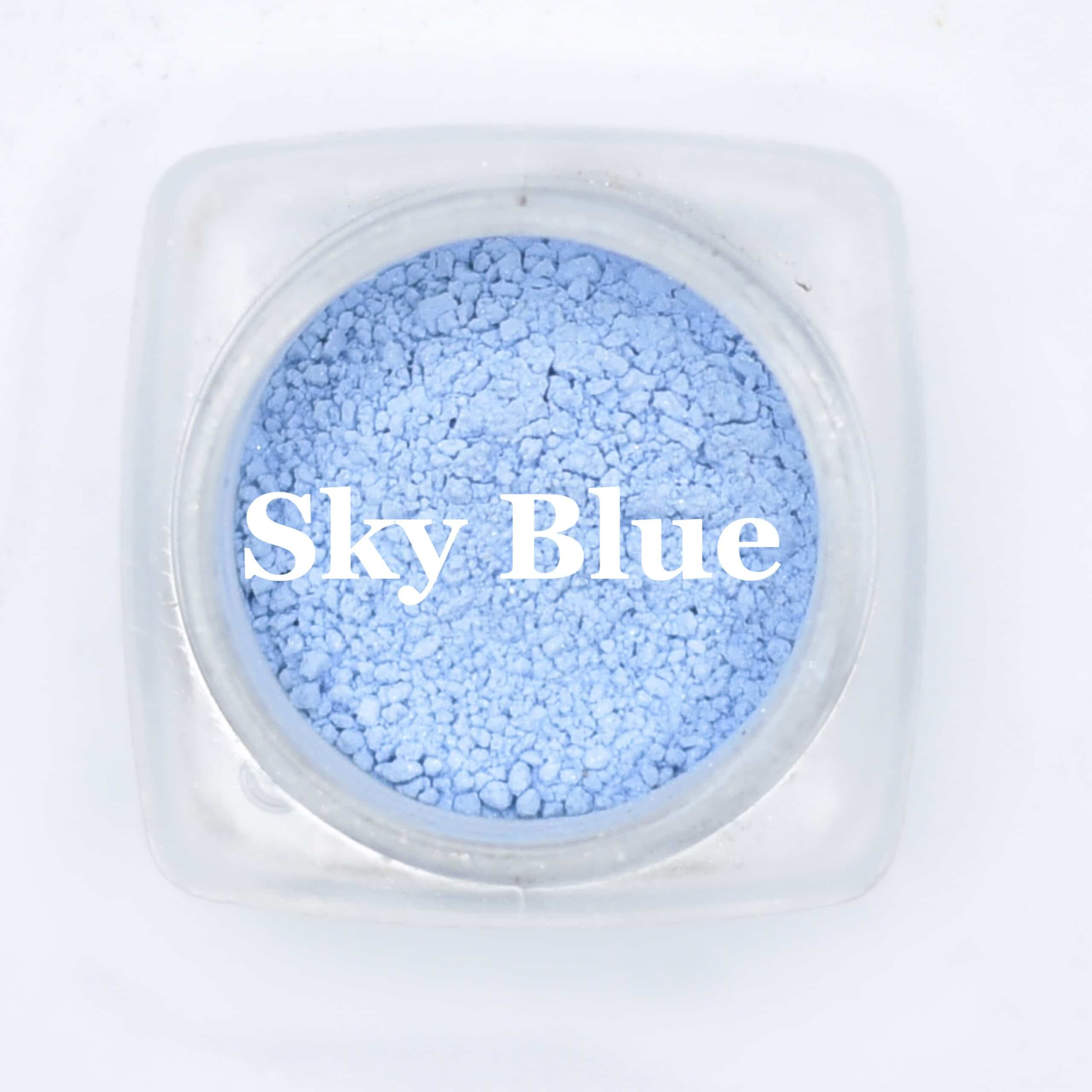 eye shadow sky blue